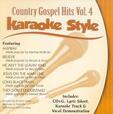 Country Gospel Hits, Volume 4, Karaoke Style CD   -