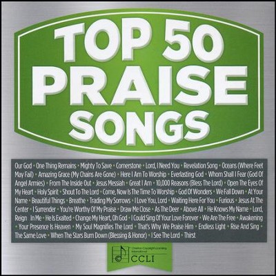 Top 50 Praise Songs (Green)   -     By: Various Artists