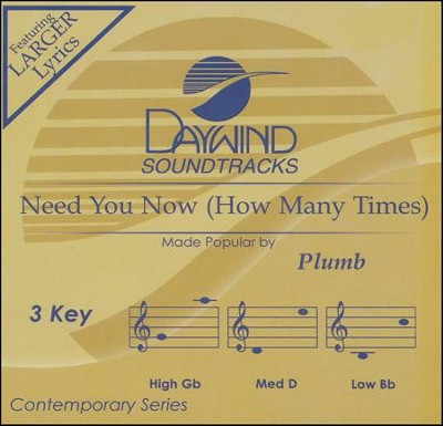 Need You Now (How Many Times), Acc CD   -     By: Plumb