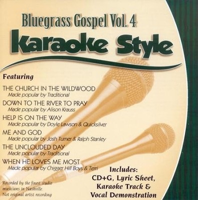 Bluegrass Gospel Volume 4, Karaoke Style CD   -