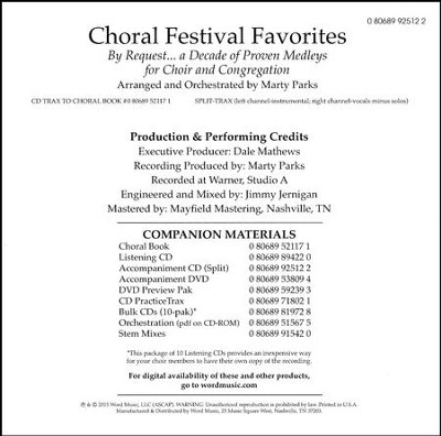 Choral Festival Favorites - Split Track   -