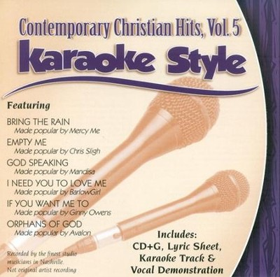 Contemporary Christian Hits, Volume 5, Karaoke Style CD   -