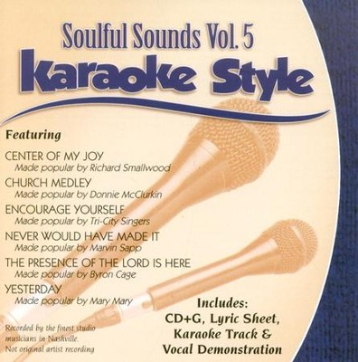 Soulful Sounds, Volume 5, Karaoke Style CD   -