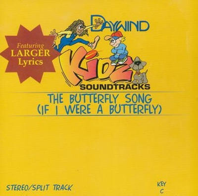 If I Were a Butterfly (The Butterfly Song), Split-Track/Stereo  CD  -