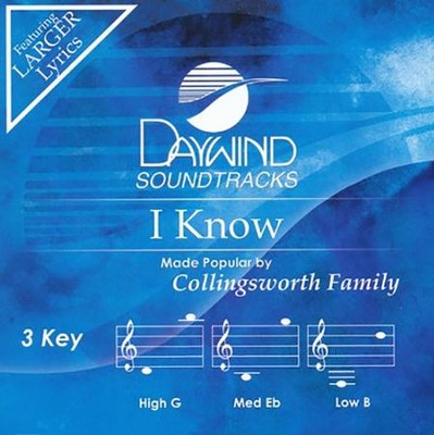 I Know, Acc CD   -     By: The Collingsworth Family