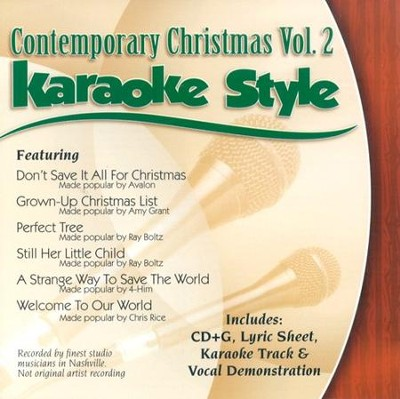 Contemporary Christmas, Volume 2, Karaoke Style CD   -     By: Various Artists