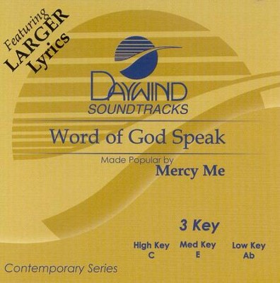 Word of God Speak, Acc CD   -     By: MercyMe