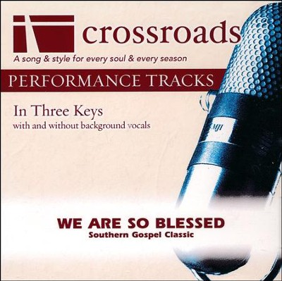 We Are So Blessed, Acc CD   -