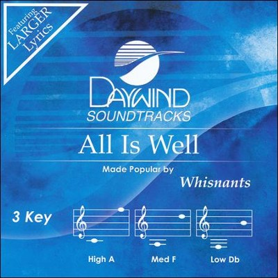 All Is Well Acc, CD  -     By: The Whisnants