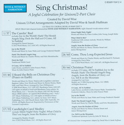 Sing Christmas, Split-Track Acc CD   -     By: David Wise, Sarah Huffman