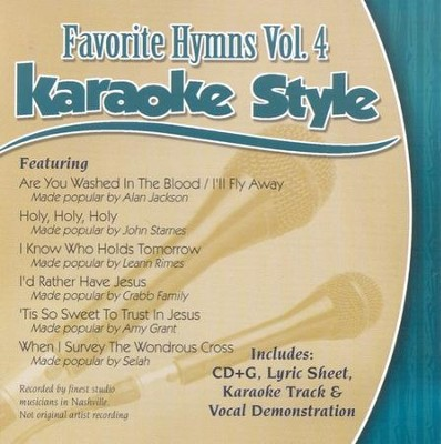 Favorite Hymns, Volume 4, Karaoke Style CD   -