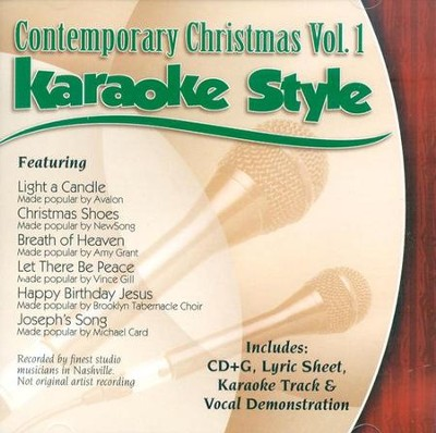 Contemporary Christmas, Volume 1, Karaoke Style CD   -