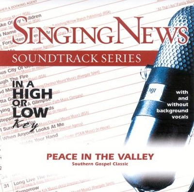 Peace In The Valley, Accompaniment CD   -