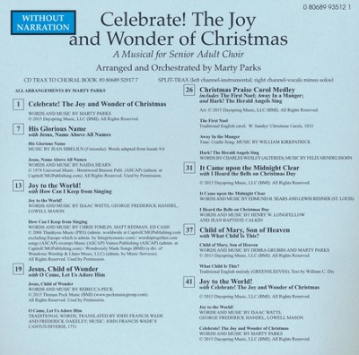 Celebrate! The Joy And Wonder Of Christmas,  Split-Track Acc CD  -     By: Marty Parks