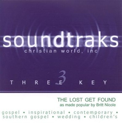 The Lost Get Found, Accompaniment CD   -     By: Britt Nicole