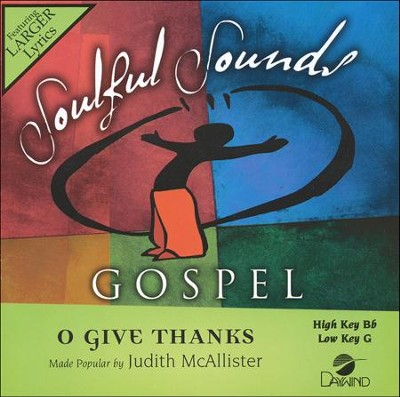 O Give Thanks, Acc CD   -     By: Judith McAllister