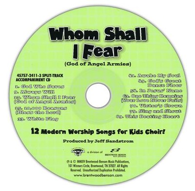 Whom Shall I Fear (God Of Angel Armies)  Split-Track Acc CD   -     By: Jeff Sandstrom