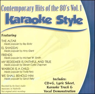 Contemporary Hits of the 80's,  Volume 1, Karaoke Style CD  -     By: Various Artists