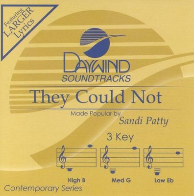 They Could Not, Accompaniment CD   -     By: Sandi Patty