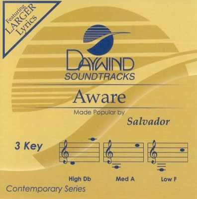 Aware, Accompaniment CD   -     By: Salvador