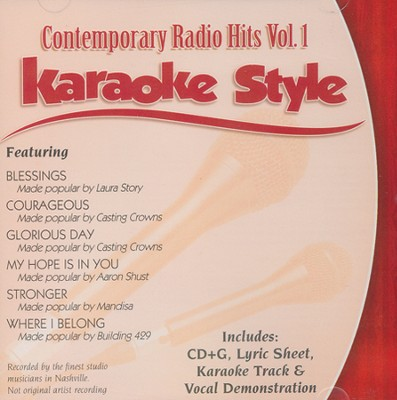 Contemporary Radio Hits Volume 1, Karaoke Style CD   -     By: Various Artists