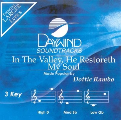 In The Valley He Restored, Acc CD   -     By: Dottie Rambo