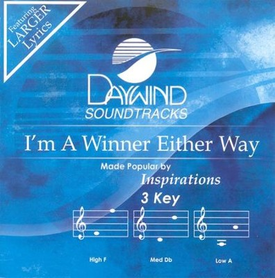 I'm A Winner Either Way, Accompaniment CD   -
