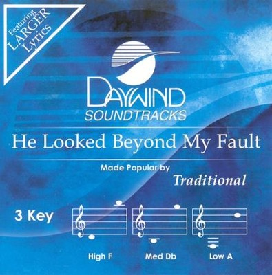 He Looked Beyond My Fault, Acc CD   -