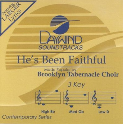 He's Been Faithful, Acc CD   -     By: The Brooklyn Tabernacle Choir