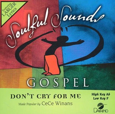 Don't Cry for Me, Acc CD   -     By: CeCe Winans