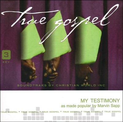 My Testimony Acc, CD  -     By: Marvin Sapp