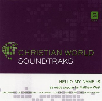 Hello, My Name is, Acc CD   -     By: Matthew West