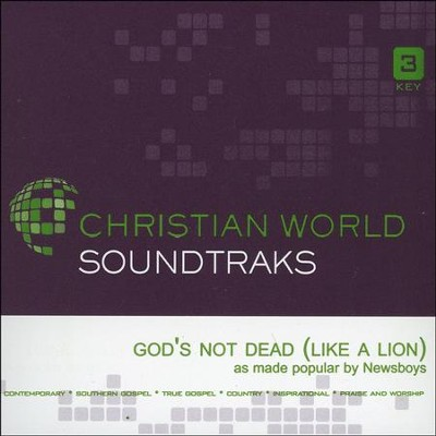 God's Not Dead (Like a Lion), Acc CD   -     By: Newsboys