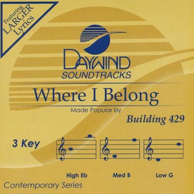 Where I Belong Acc, CD  -     By: Building 429