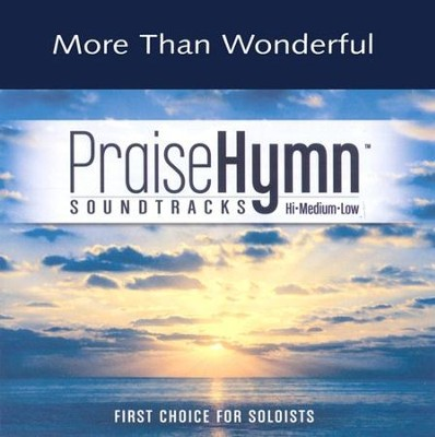 More Than Wonderful, Accompaniment CD   -     By: Sandi Patty