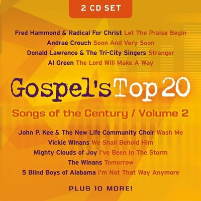 Gospel's Top 20 Songs of the Century, Volume 2, Compact Disc [CD]   -