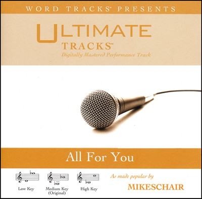 All For You (Medium Key Performance Track With Background Vocals)  [Music Download] -