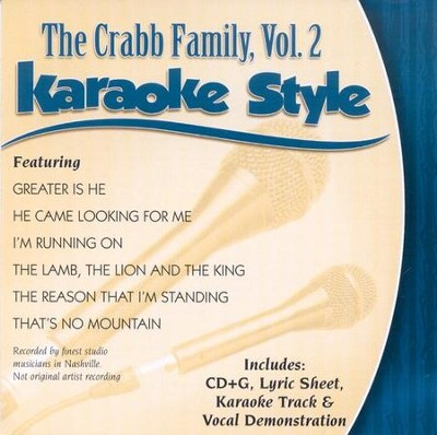 The Crabb Family, Volume 2, Karaoke Style CD   -