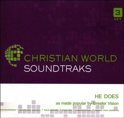 He Does, Acc CD   -     By: Greater Vision