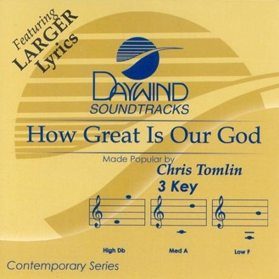 How Great is Our God, Acc CD   -     By: Chris Tomlin