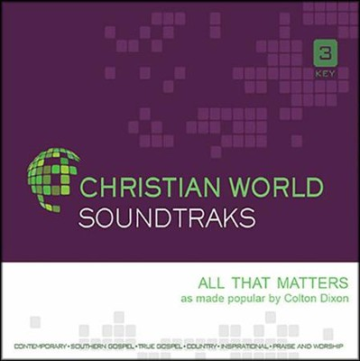 All That Matters, Accompaniment CD   -     By: Colton Dixon