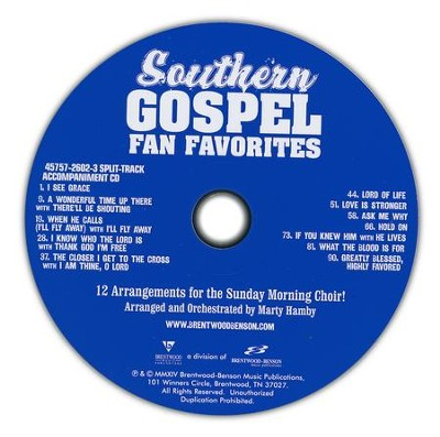 Southern Gospel Fan Favorites, Split-Track  Accompaniment CD  -