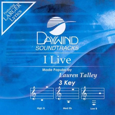 I Live, Accompaniment CD   -     By: Lauren Talley