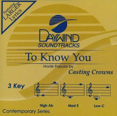 To Know You, Acc CD   -     By: Casting Crowns