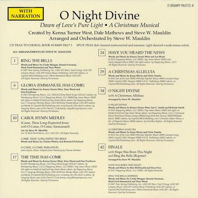 O Night Divine: Dawn of Love's Pure Light (Split-Track Accompaniment with Narration)  -     By: Kenna Turner West, Dale Mathews, Steve W. Mauldin