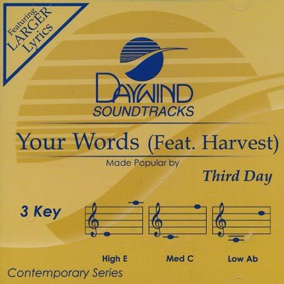 Your Words (Feat. Harvest), Acc CD   -     By: Third Day