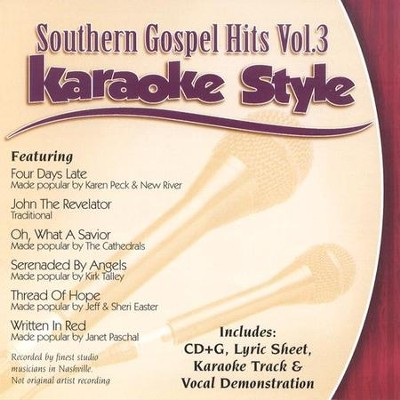 Southern Gospel Hits, Volume 3, Karaoke Style CD   -