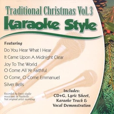 Traditional Christmas, Volume 3, Karaoke Style CD   -