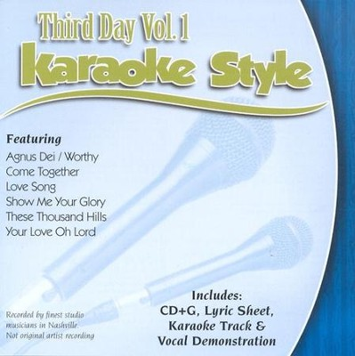 Third Day, Volume 1, Karaoke Style CD   -