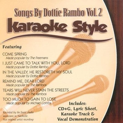 Songs by Dottie Rambo, Vol. 2, Karaoke CD   -